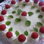 Sütés nélküli málna torta 2