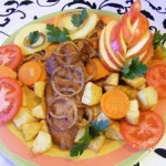 Zöldséges sült tarja 1
