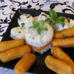 Bazsalikomos csirkemell burgonya krokettel 3