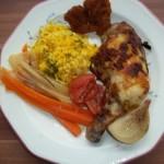 Indiai csirke kurkumás rizzsel 1