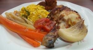 Indiai csirke kurkumás rizzsel