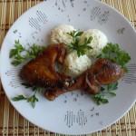 Kakukkfüves csirkesült párolt rizzsel