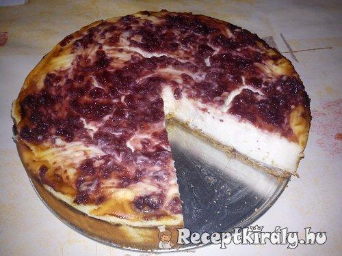 Klasszikus sajttorta meggylekvárral 1