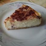 Klasszikus sajttorta meggylekvárral 2