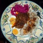 Resztelt csirkemáj tojással rizzsel 1
