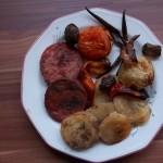 Csülöksonka felvágott zöldségekkel  2