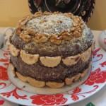 Csokoládés diós torta