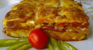Magyaros pizza pompos tésztából
