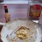 Mexikói sajtleves kukoricával tortillával 2