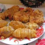 Sajtos bundában sült csirkemell