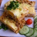 Sajtos rizses hús sütőben sütve 1