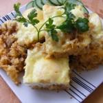Sajtos rizses hús sütőben sütve 2