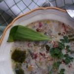 Tejszínes chilis hagymaleves 1