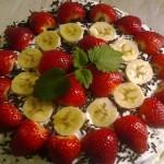 Epres banános torta 1