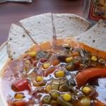 Mexikói zöldségleves tortillával és tequilával 1