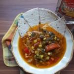 Mexikói zöldségleves tortillával és tequilával 2