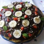 Csokis mogyorós palacsinta torta 2