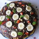 Csokis mogyorós palacsinta torta 3