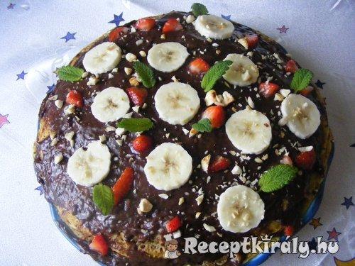 Csokis mogyorós palacsinta torta
