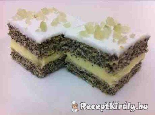 Gyümölcsös vaníliakrémes máklepény
