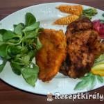 Rántott hús és máj madársalátával 1