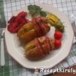 Sajtkrémmel töltött újkrumpli bacon köntösben 1