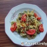 Sonkás ravioli zöld pestoval és parmezánnal 2