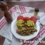 Tejszínes csirkemellcsíkok zöldborsós rizzsel 2