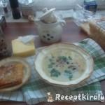 Tejszínes gombakrémleves sajtos toast-tal 2