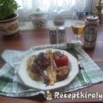 Zöld pestos csirkecomb sült zöldségekkel 3