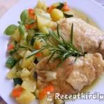 Zöldséges csirkemell bormártással 1