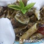 Zöldséges pestos tészta mozzarellával 1