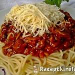 Bolognai spagetti gombával 1