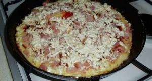 Serpenyős pizza tíz perc alatt