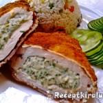 Zöldfűszeres krémsajtos csirkemell 1