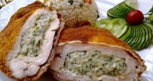 Zöldfűszeres krémsajtos csirkemell