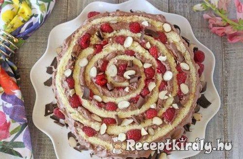 málnás csokikrémes torta 1