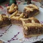 Diós rácsos sütemény 1