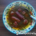 Sült kolbászleves sült gombával és krumplival 1