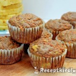 Ananászos sárgarépás muffin 1