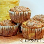 Ananászos sárgarépás muffin