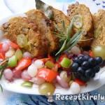 Szőlős vagdalt édes savanyú zöldség körettel 3