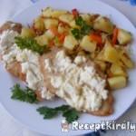 Túrós sajtos csirkemell káposztás burgonyával 2