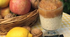 Tejberizs karamellás almalekvárral