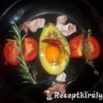 Avokádó és tojás csőben sütve 1