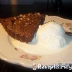 Csokoládés diós brandys brownie torta 1