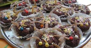 Hallowen pókos muffin