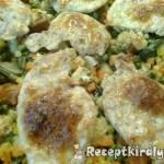 Mozzarellás csirkemellek zöldségágyon 2