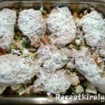 Mozzarellás csirkemellek zöldségágyon 3