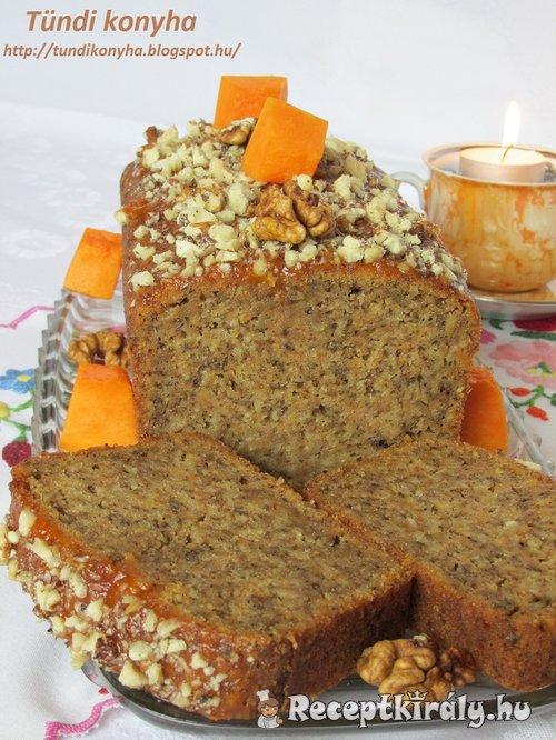 Sütőtökös diós sütemény
